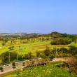 玉城城からの眺めゴルフ場