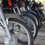 国際通りのバイク駐輪場