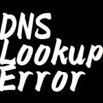 DNSルックアップエラーの私的対処法